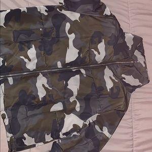 H&M army fatigue puffer